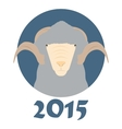 Goat symbol of the coming year vector