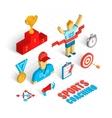 Sport coaching isometric set vector