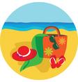 Vacation and holiday at beach vector