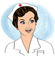 Beautiful friendly and confident nurse smiling vector