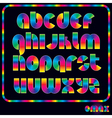 Retro neon alphabet vector
