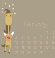 Calendar for february 2014 vector