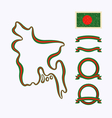 Colors of bangladesh vector