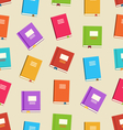 Seamless pattern of books for education vector