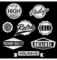 Black and white grunge retro stamps and badges vector