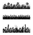 Meadow silhouettes vector