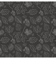 Vintage black background with tree leaves vector