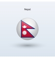 Nepal round flag vector