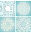 Set of 4 round lace backgrounds vector