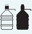 Bottle with clean water vector