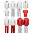 The set of various work clothes vector