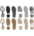 Set of footprints vector