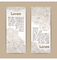 Ornamental banners vertical vector