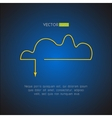 Cloud service stylish icon network technology and vector