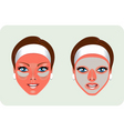 Beauty mask vector