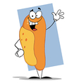 Friendly hot dog mascot cartoon character vector