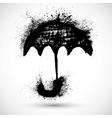 Umbrella grunge sketch vector