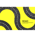 Road blank badges and labels on background yellow vector