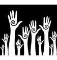 Hands up background vector