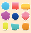 Colorful speech bubble vector