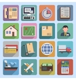 Multicolored logistic icons flat vector