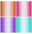 Set of four colorful geometric patterns vector