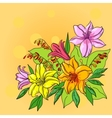 Flower background lily and mine vector