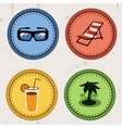 Summer holiday icons vector