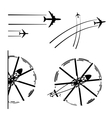 Transport aircrafts vector