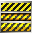Set of danger and police warning lines vector