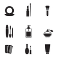 Cosmetics icons set vector