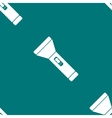Flashlight web icon flat design seamless gray vector