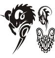 Zodiac signs - aries vinyl-ready set vector