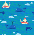 Seamless baby pattern sailor vector