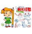 Funny doodles - back to school vector