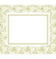 Frame on a ornamental background vector