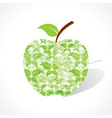 Green butterfly make a apple vector