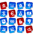 Money stickers vector