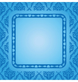 Blue background with blue frame vector