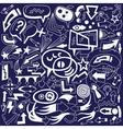 Speech bubbles and arrows - doodles set vector