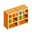 Icon bookshelf vector