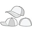 Baseball hat or cap template vector