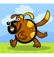 Cartoon running dog or puppy vector