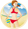 Girl volleyball vector