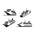 Cruise ships in perspective vector