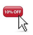 10 off button click vector