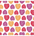 Seamless pattern with decorative raspberries vector