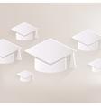 Academic cap icon study hat symbol vector
