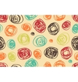 Seamless pattern of circles in retro style vector