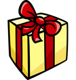 Christmas or birthday gift clip art vector